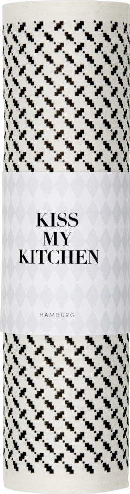 Kiss My Kitchen Schwammtuch-Rolle Pali Pur Black/White
