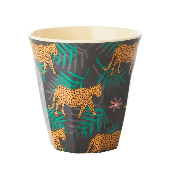 Rice Melamin Becher Leopard & Leaves