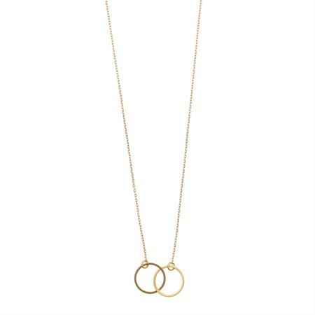 Timi of Sweden Halskette Double Circle Gold