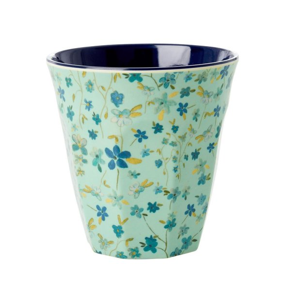 Rice Melamin Becher Blue Floral