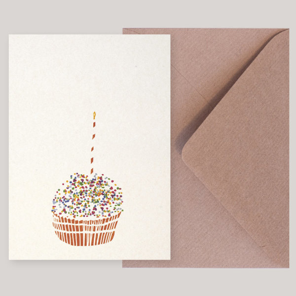 Souci-Illustration Postkarte / Muffin